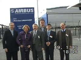 Employees of Center of Composite Technology on Airbus