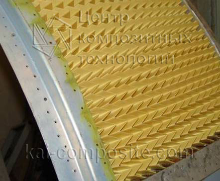 Application of Z-crimp folded core for cound insulation of ПС-90 engine nacelle